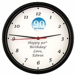 Personalized 90th Clock