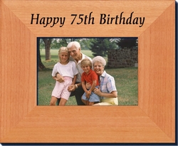 75th Birthday Gift Frame