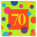 70th Birthday Napkins