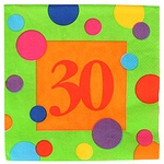 30th Birthday Party Supplies, Invitations, Napkins