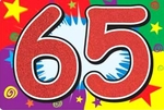 65th Birthday Sign
