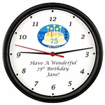 Personalized 75th Birthday Clock