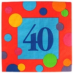 40th Birthday Napkins