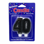 40th Birthday Supplies: 40th Birthday Candle