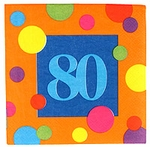 80th Birthday Napkins