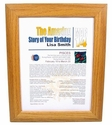 Personalized Astrology Gift- OAK FRAME