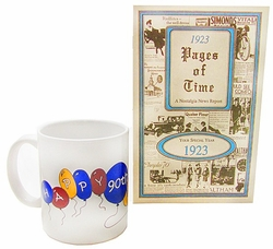90th Birthday Mug & 1923 Book Combo
