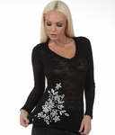 Stitched Flower Top