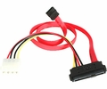 "18"" 29-pin SAS to SATA and 4-pin Molex Cable - 29pin SAS to 2x SATA"