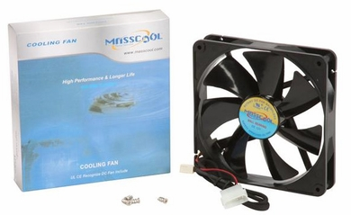 Masscool FD14025S1L3/4 140mm 57CFM High Airflow Case Fan with 3+4pins