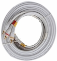 25 ft RCA Composite Video/Audio Cables - White