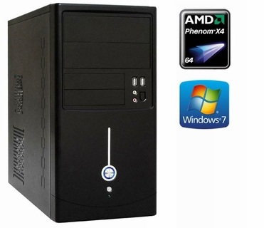 OutletPC AMD X4 Quad Core Windows 7 Computer System