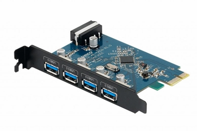 Orico 4 Port PCIe x1 USB 3.0 Expansion Card