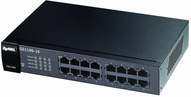 ZyXEL GS1100-16 16-port Gigabit Rackmount Unmanaged Switch