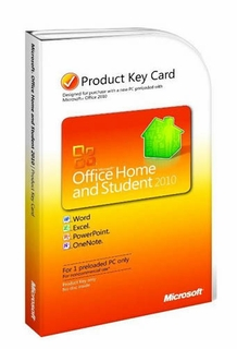 Microsoft 79G-02020 Office 2010 Home & Student License Key Card - 1PC