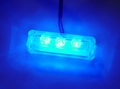 Logisys 12V Water Resistant Triple Blue LED Light