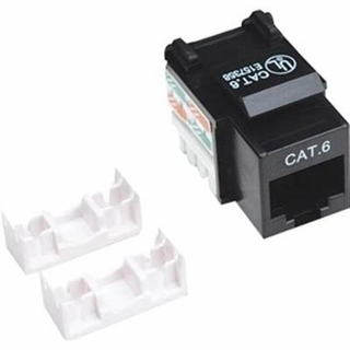 Intellinet 210720 Cat6 Keystone Jack (Black)