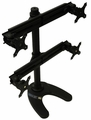 MonMount Quad Monitor Desk Stand for Four LCD Screens- Black