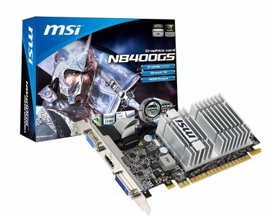 MSI N8400GS-MD512H Geforce 8400 512MB DDR3 PCIe Video Card
