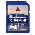 Kingston SD4/8GB 8GB SDHC Flash Memory Card