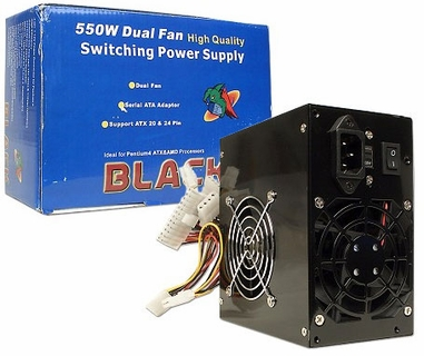 Logisys PS550ABK 550 Watt 8-Pin EPS ATX Power Supply - 550W