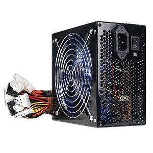 Echo Star ESTAR680XBK 680 Watt ATX Power Supply with Blue LED Fan