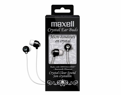 Maxell 190336 Crystal Budz Earbuds (Black)