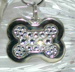 LUXURIOUS SWAROVSKI CRYSTAL PET TAGS - FULLY COATED