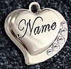 DOMED HEARTS PET ID - 2 SIDE ENGRAVE - 2 COLORS