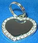 2 SIDED ENGRAVED - SMALL HEART  ID FOR  CATS OR DOGS
