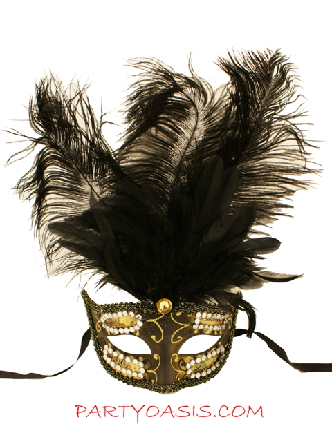 Masquerade Musica Feather Mask