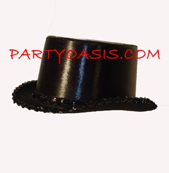 Metallic Black Top Hat