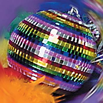 Rainbow Disco Ball 8""