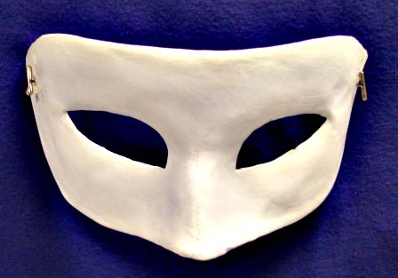 Unpainted Plain Venetian Eye Mask
