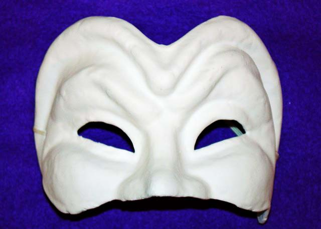 Unpainted Joker Half Mask