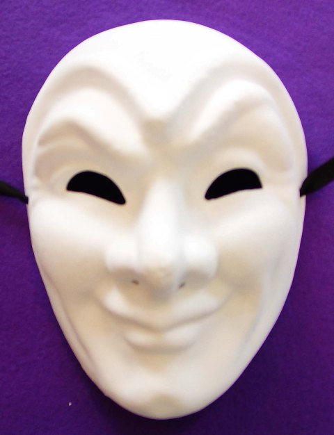 Unpainted Joker Full Face Mask