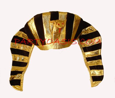 Golden King Tut Hat w/Snake