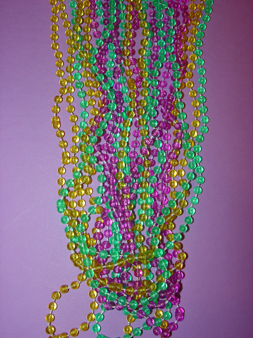 "Beads Mardi Gras Transparent 33"" Necklace (144 pc)"