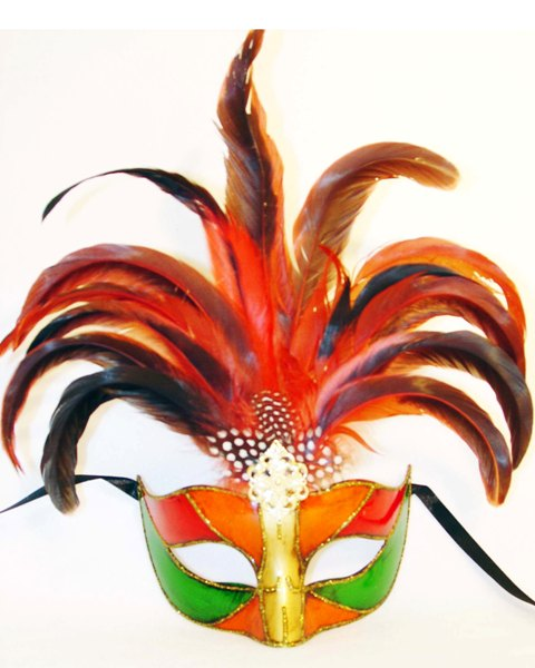 Venetian Princess Feather  Eye Mask