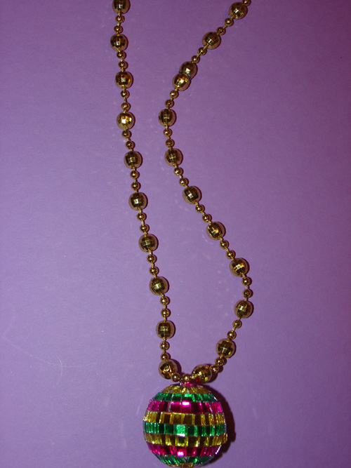Mardi Gras Mirror Ball 17 inch Necklace