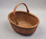 "Antique 8"" Oval Nantucket Basket by Appleton"