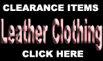 LEATHER CLOTHING CLEARANCE