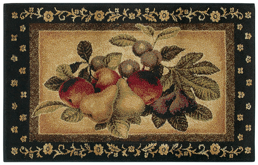 Shaw Multi 3x5 Kitchen Apples Pears Grapes Vine Area Rug
