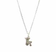Silver-plated Necklace and Carriage Charm