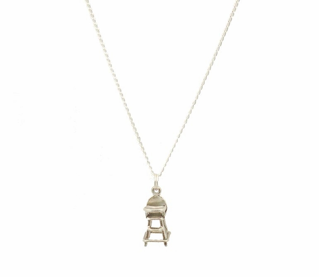 Sterling Silver Highchair Necklace