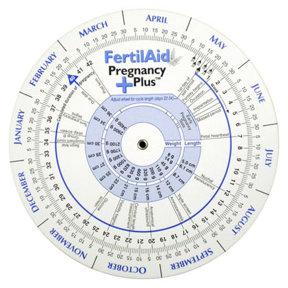 Ovulation and Pregnancy Calendar Wheel