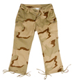 WOMEN'S TRI-COLOR CAMO CAPRI PANTS