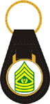US Army E9 Command Sgt. Major Key Fob