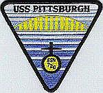USS Pittsburgh SSN 720 Patch