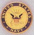 US Navy Car Grill Badge
